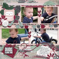 Sweet Joey!!  He had so much fun playing with the little tryke!  I used Heartfelt Templates by Dagi's Temp-tations http://store.gingerscraps.net/Heartfelt.html Rose Garden{Full Kit} by Little Rad Trio http://store.gingerscraps.net/Rose-Garden-bundle.html Inspired Designs-Who Loves You kit http://store.gingerscraps.net/WHO-LOVES-YOU-Kit.html