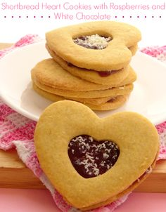 Best Chocolate Raspberry Shortbread Hearts Recipe Recipe on Pinterest