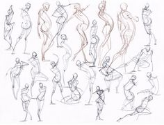 Art references and Resources, anatoref:   Gesture Drawing.