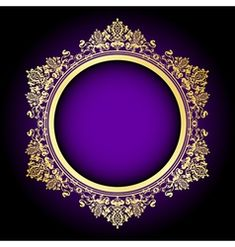 Green and gold frame Royalty Free Vector Image Retro Background, Background Banner, Invitation Background, Best Flower Wallpaper, Gold Wallpaper, Background Images Wallpapers, Purple Backgrounds, Islamic Art Pattern, Pattern Art