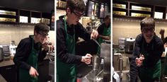 Autistic Starbucks Barista is Getting a Lot of Love for His Dance Moves - video by Carly Fleischmann : Metro Uk