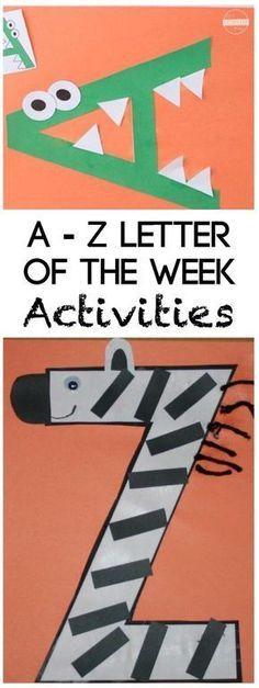 Super cute Alphabet Crafts from A to Z for toddler, preschool, prek, kindergarten