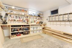 Garage organization.  My hubby needs this with the thousands of dollars of tools he has!!!