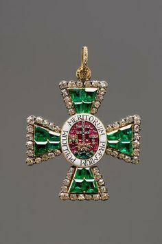 Saint Stephen Order, Grand Cross badge with diamonds, 1746-1765, H. 57mm., Kunsthistorisches Museum, Vienna.