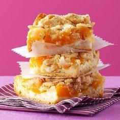 Peaches 'n' Cream Bars Recipe from Taste of Home -- shared by Hubert Scott of Cockeysville, Maryland