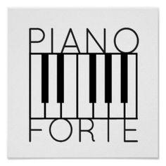 Pianoforte Poster