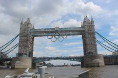 Olympic Rings on Tower Bridge!