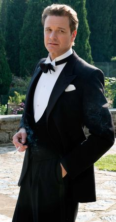 """Colin Firth in """"Magic in the Moonlight""""  He looks great in formal wear in any era!"""