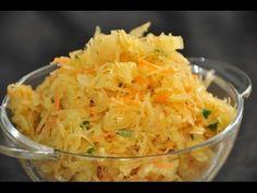 Pyszna surówka z kiszonej kapusty - YouTube Polish Food, Polish Recipes, Potato Salad, Cabbage, Potatoes, Vegetables, Ethnic Recipes, Youtube, Kitchens