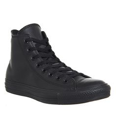 5bd41661c770 Converse All Star Hi Leather Black Mono - Unisex Sports