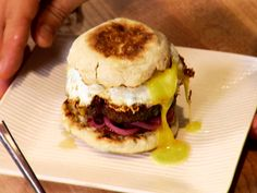 """THE LOLA BURGER RECIPE: ~ From: """"Food Network.Com."""" ~ Recipe Courtesy of """"MICHAEL SYMON."""" (Show: Paula's Best Dishes ! Ultimate Comfort).~ Prep.Time: 15 min; Cook Time: 15 min; Total Time 30 min; Level: Easy; Yield: (4 servings). """"COOKS NOTE"""" ~  Michael's favorite mix of meats for this burger is chuck, sirloin, and brisket."""