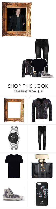 """Jasper Kyle picture day"" by karabear3256 ❤ liked on Polyvore featuring Balmain, Gucci, Kloters Milano, Converse and Marcelo Burlon"