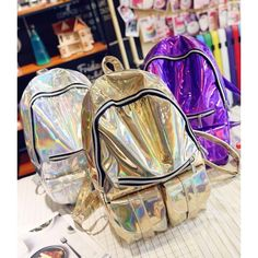 Cheap silver hologram backpack, Buy Quality hologram backpack directly from China backpack laser Suppliers: Women Backpack Silver Hologram Backpacks Laser Back Pack Men's Bag Leather Holographic Daypack Sac a Dos Mochila Masculina Bolsa Men's Backpack, Rucksack Backpack, Fashion Backpack, Fashion Bags, Fashion Women, Fashion 2018, Colorful Backpacks, Cute Backpacks, School Backpacks