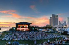 The downtown skyline at San Diego Symphony Summer Pops