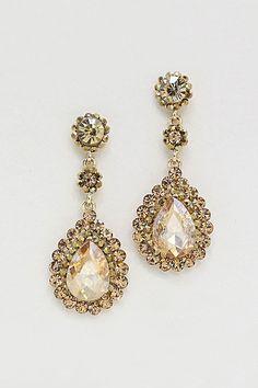 Crystal Valencia Earrings in Colorado Topaz on Emma Stine Limited