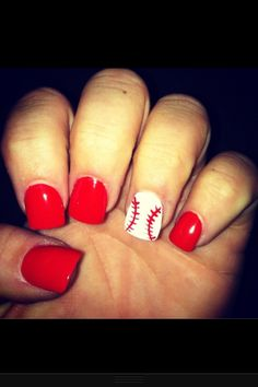 Nails for a baseball gf