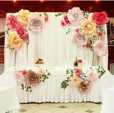 more color size DIY paper flower Backdrop for wedding custom paper flower wall Decoration Party Supplies Birthday Party Kids Paper Flower Backdrop Wedding, Paper Flower Wall, Wedding Flowers, Wedding Backdrops, Wedding Paper, Paper Backdrop, Floral Backdrop, Giant Paper Flowers, Diy Flowers