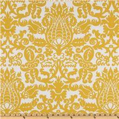 Premier Prints Amsterdam Slub Yellow/White Fabric $8.48 per yard