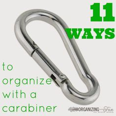 11 Ways to Organize with a Carabiner