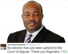Court Of Appeal Upholds Akpabio's Election [PICS]