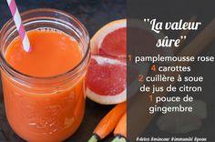 Jus detox pamplemousse carotte