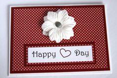 Handmade Card, Anniversary Card, Vintage Card, I Love You Card, Valentines Day Card. $3.75, via Etsy.