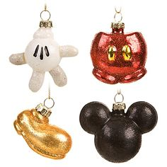 Best of Mickey Mini Mickey Mouse holiday ornament set (4-pc.) $19.95 (I have these too. Will use the first time Christmas 2011!)