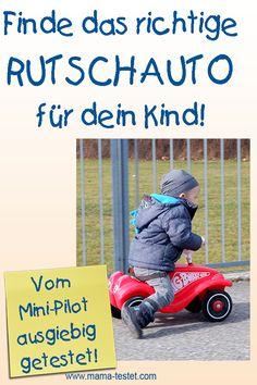 Du suchst ein tolles Geschenk für einen 1-2 jährigen Jungen? Mein kleiner Mini-Pilot hat 4 Rutschautos monatelang ausgiebig getestet. Was ist der Rutschauto Testsieger? Bobby Car, Toys, Mini, Baby, Kids Cars, Hamster Wheel, Newborn Babies, Infant