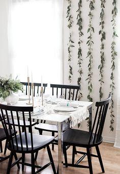 Seeded eucalyptus backdrop - Homey Oh My!