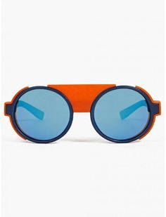 Mykita men's blue Mylon Mallory Kids Sunglasses, Mirrored Sunglasses, Crazy Sunglasses, Trending Sunglasses, Rectangle Sunglasses, Glasses Frames, Eye Glasses, Lunette Style, Four Eyes
