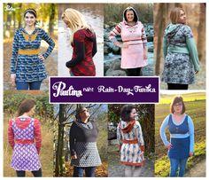 Oberteile & Jacken - ANGEBOT!! Rain-Day-TUNIKA von Paulina näht - ein Designerstück von Paulina-naeht bei DaWanda