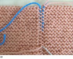 Garter Stitch Seams Invisible Join How-tos With Photos | skerin