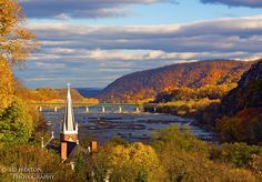 wv mountains scenic | view of Harpers Ferry from Jefferson Rock - West Virginia