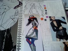 fashion ilustration work 1 by chezababes.deviantart.com on @deviantART