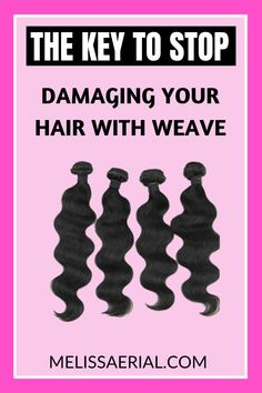 Does your weave damage your hair? Are you wondering how to stop the damage. Here's a key solution to the hair breakage from weave wearing. Natural Hair Growth Remedies, Natural Hair Growth Tips, Natural Hair Treatments, Natural Hair Types, Breaking Hair, Hair Growth Cycle, Hair Growth Treatment, Hair Breakage, Fast Hairstyles