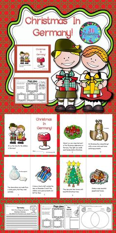 Christmas In Germany Emergent Reader!: Christmas Around the World Germany will be a great addition to your book boxes in December. Take a Preview Peek! Included:  8 page booklet in color and black and white Main Idea Printable  Writing Printable  New Words Printable  Compare and Contrast Printable Let the children put the book in their book boxes and practice reading for a week! Take it home and read it again and again to learn about Christmas Around the World!