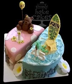 Joint birthday cake Dad and Daughter Daughter Birthday, Father Daughter, Dad Birthday Cakes, Awesome Cakes, Food Crafts, Cake Ideas, Baking Recipes, Birthdays, Desserts