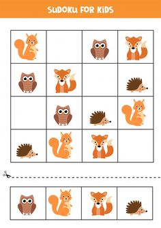 Animal Activities For Kids, Educational Games For Kids, Math For Kids, Puzzles For Kids, Toddler Activities, Animals For Kids, Preschool Worksheets, Kindergarten Activities, Preschool Activities