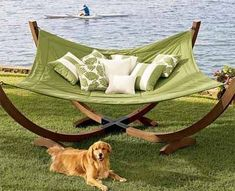 beside my pool please!on my pool deck too ! Indoor Outdoor Living, Outdoor Fun, Outdoor Spaces, Outdoor Seating, Outdoor Ideas, Outdoor Couch, Outdoor Kitchens, Outdoor Stuff, Indoor Hammock