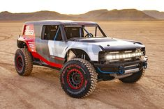 Ford's Bronco R Race Prototype Is Outfitted For Baja Desert Domination - Dr Wong - Emporium of Tings. Ford Bronco 2, New Bronco, Sema 2019, Custom Jeep, Ford Trucks, Jeep Truck, Pickup Trucks, Jeep Gladiator, Pony Car