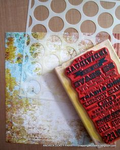 Stamping Over Stencils Tutorial by Andrea using Simon Says Stamp Exclusives for the Monday challenge Stamptember 2014 Blog Hop.
