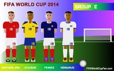 Group E - France, Switzerland Ecuador and Honduras - FIFA World Cup 2014 Groups #fifaworldcup