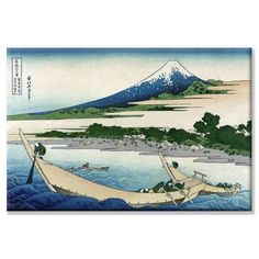 Buyenlarge Shore of Tago Bay and Ejiri at Tokaido Painting Print on Wrapped Canvas Size: