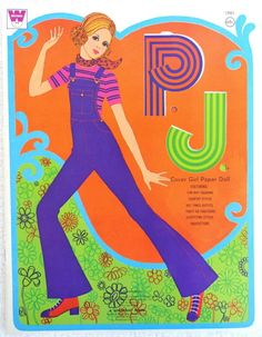 1971 P J Cover Girl Paper Doll Book 1981 Uncut Whitman Barbie Family