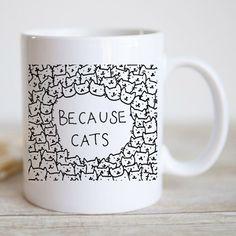 Because Cat Doodle Coffee Mug