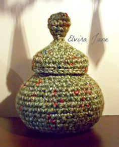 Sculptural Crochet Pot ~ designed & handmade by Elvira Jane.