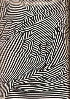 Sketchbook Activity: 'Line defining Forms' Op art hands and drapery - get students to trace a figure from a fashion spead - then follow the form and fill with line yr 7-9