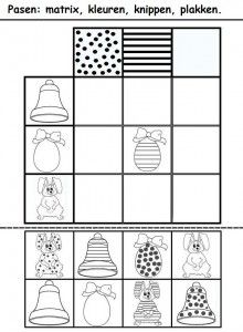 easter pattern worksheet