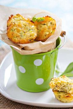 These cheese and zucchini bites are PERFECT snacks for kids and busy mums. At only 39 calories each, they're hard to stop at just one.