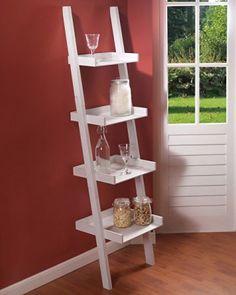 Escalera de estantería de colour blanco con diseño de 166 x 43,5 cm diseño…